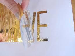 gently l back gold foil