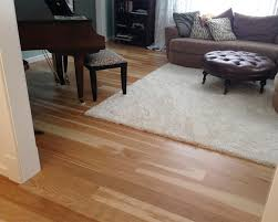 hickory gluedown hardwood floor