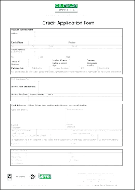 Wholesale Credit Application Credit Application Template