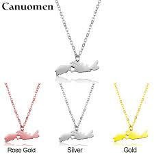 canada map nova scotia pendant necklaces charm country necklace rose gold snless steel love hometown gift women jewelry
