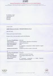 you now navigate to jpg uk naric letter of comparability giving details as to what my degrees are worth in the uk page 1