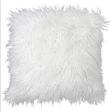 Mongolian fur pillows Burgundy 18 Athomecom 18