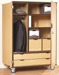 deluxe wooden home office. CA376 Deluxe Wood HeavyDuty Mobile StorageWardrobe CabinetwDrawers Wooden Home Office H