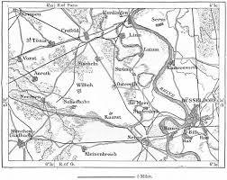 Germany Vintage Chart Germany Crefeld Area Sketch Map C1885 Old Antique Vintage Plan Chart