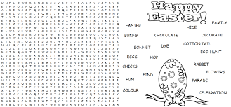 Small Picture Word Find Easter Activities