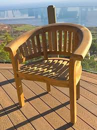 teak outdoor dining chair with