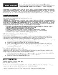 Nursing Resume Objective Jk Charge Nurse