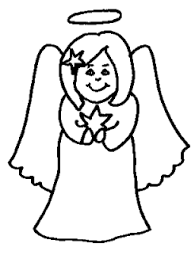 transmissionpress: Free Printable : christmas angel colouring ...
