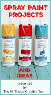 a collection of diy spray paint projects and ideas
