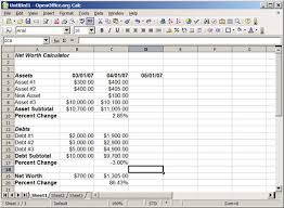 Debt Calculator Excel Building Your Own Monthly Net Worth Calculator Using A Spreadsheet