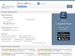 like google translate linguee is available to on ios or android and it s free