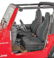 bartact mil spec super front seat covers for 03 06 jeep wrangler tj unlimited quadratec
