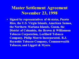 Master Settlement Agreement Gorgeous History Of Tobacco Ppt Video Online Download