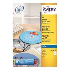 Avery Labels Dvd Avery Cd Dvd Labels Inkjet 2 Per Sheet Dia 117mm Easy Application