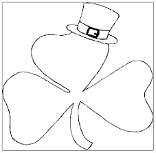 Shamrock Coloring Page Shamrock Coloring Pages Printable Shamrocks To Color Page Free