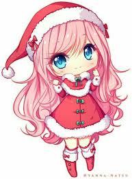 Resultado de imagem para feliz natal de anime kawaii