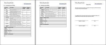 Template For Employee Performance Review Employee Annual Review Template