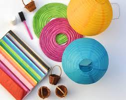 diy circle paper lanterns
