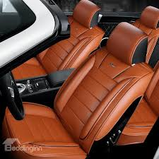 34 finely processed leather business style design universal car seat covers