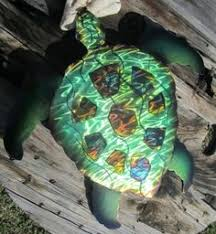 seaturtle wall art hawaiian honu metal abstract sculpture green sea turtle decor painted with fire on large metal sea turtle wall art with 19 best glass turtle figurines images on pinterest turtles el