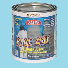 ames blue max liquid rubber waterproofing foudation under tile shower deck roof basement leak repair conspec ames blue max f83