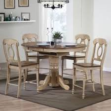 sunset trading 5 piece brook erfly leaf pub dining table set with napoleon stools