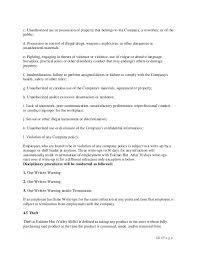 Employee Write Up Policy New Employee Handbook