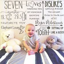 Seven Month Milestones Chart Pin On Baby Horomanski