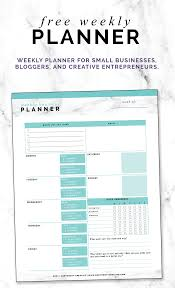 Free Weekly Planner For Small Businesses Bloggers And