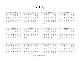 2020 calandars 2020 calendar free printable allfreeprintable com