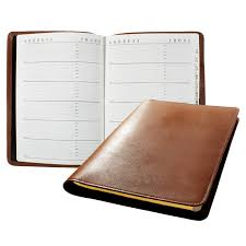 leather covered sewn address book