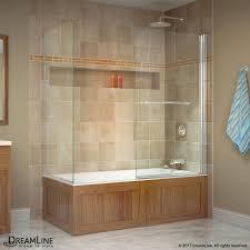 aqua swing tub door with return panel