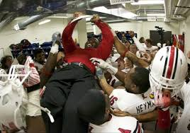 U Of L Football Coach Charlie Strong Gets The Victory Ride Of His