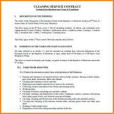 sample cleaning contract agreement cleaning service contract template cleaning service agreement