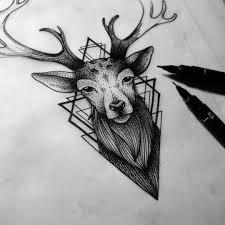 Resultado De Imagen Para тату олень в треугольнике Ready тату