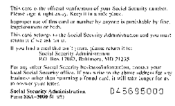 Security Card Template Social Security History