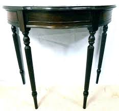fabulous half round console table half round accent table semi circle console table half circle console
