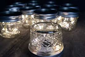 Quilted Mason Jars with Fairy Lights   wedding everything ... & Quilted Mason Jars with Fairy Lights Adamdwight.com