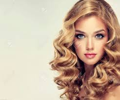 Blonde Hair Style beautiful girl blonde hair with an elegant hairstyle wavy hair 5795 by wearticles.com
