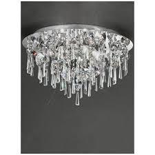 cf5720 jazzy 5 light bathroom crystal semi flush ceiling light chrome ip44