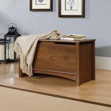 Sauder Bedroom Furniture Sauder Shoal Creek Oiled Oak Storage Chest 412221