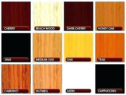 Wood Furniture Stain Color Chart Wood Furniture Colors Stain Color