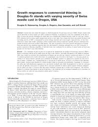 Douglas Fir Growth Chart Pdf Growth Responses To Commercial Thinning In Douglas Fir