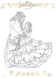 Get This Beauty and The Beast 2017 Coloring Pages Belle and Beast ...