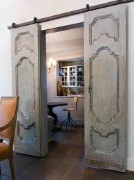 haute indoor couture barn door decor