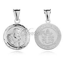silver 925 pendant saint pope john paul ii silver jewellery religious jewellery religious pendants 8198 jewelry jewelry