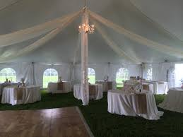tent kiting with sting lighting and optional chandelier