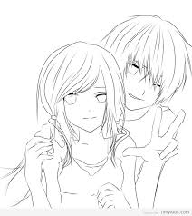 Today, coloring pages for adults are very popular. Http Timykids Com Cute Anime Couple Coloring Pages Html Anime Lineart Cute Coloring Pages Anime