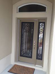 new glass inserts for door and sidelight