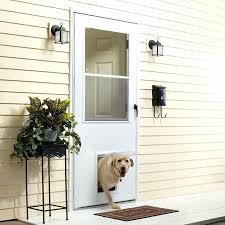 preinstalled dog door self storing storm door with pet door pre installed pet door home depot